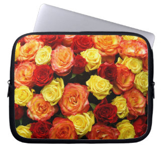 """Red, Orange, and Yellow Roses 10"""" Computer Sleeve"""