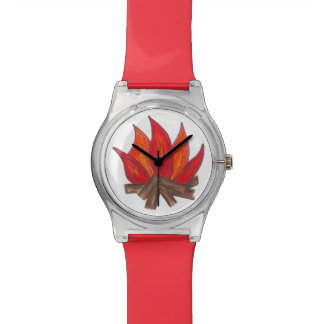 Red Orange Campfire Camp Fire Camping Watch