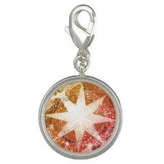 Red Orange Compass Gemstone Rhinestone