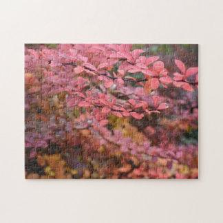 Red Orange Fall Foliage Autumn Leaves Nature Photo Jigsaw Puzzle