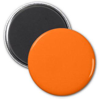 Red-Orange #FF6600 Solid Color 6 Cm Round Magnet