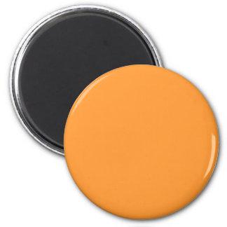 Red-Orange #FF9933 Solid Color 6 Cm Round Magnet