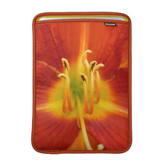 Red orange flaming lily macro photo sleeve for MacBook air