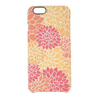 Red/Orange Floral Pattern Deflector iPhone 6 Case Uncommon Clearly™ Deflector iPhone 6 Case