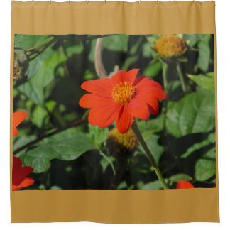 Red/Orange Flower Shower Curtain