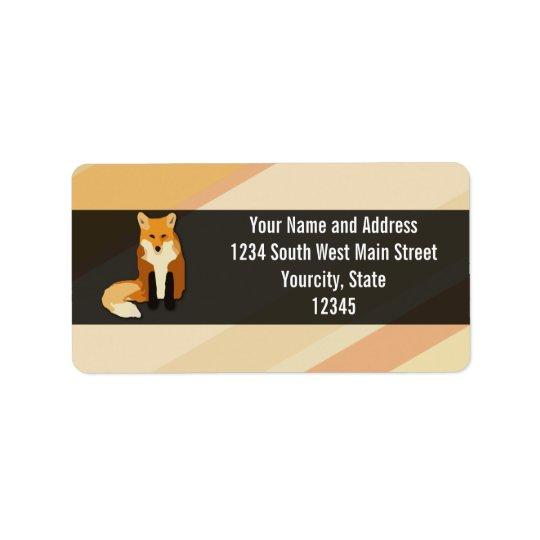 Red Orange Fox Label