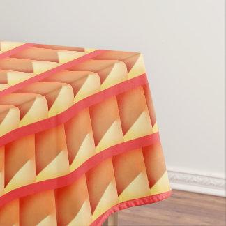 Red orange geometric Xmas tablecloth. Tablecloth