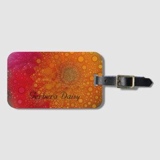 Red Orange Gerbera Daisy Pop Art Luggage Tag