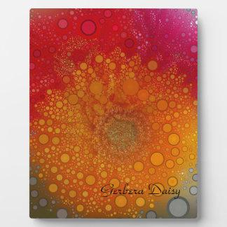 Red Orange Gerbera Daisy Pop Art Plaque