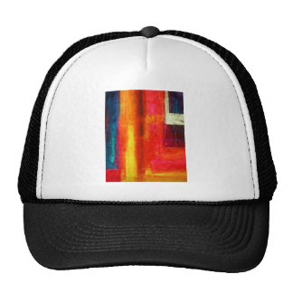 Red Orange Green Blue Color Fields Abstract Art Trucker Hats