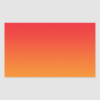 Red & Orange Ombre Rectangular Stickers