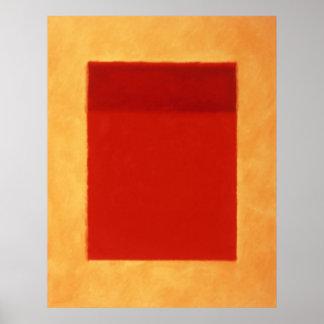 red, orange on yellow poster