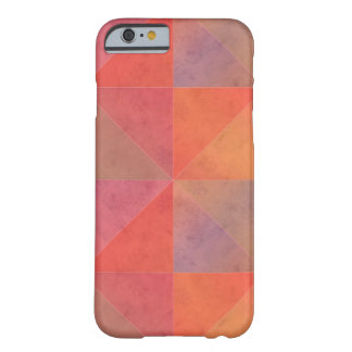 Red Orange Pink Watercolor Triangles Geometric Art Barely There iPhone 6 Case