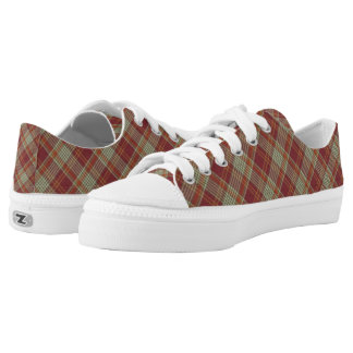 Red Orange Plaid Sand Shoes Sneakers Shoes
