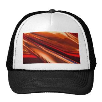 Red Orange Shiny Surface Trucker Hats