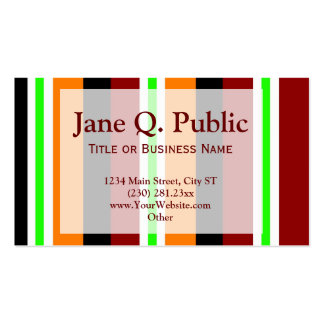 Red Orange Stripes Business Card Templates
