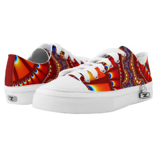 Red Orange Sunset Remix Low Top Shoes Printed Shoes