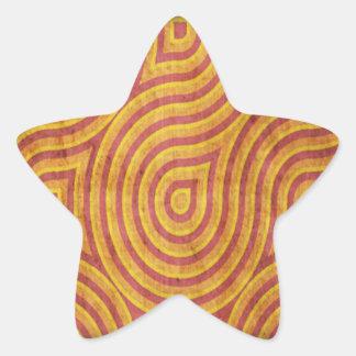 Red Orange Swirl Grunge Sticker
