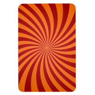 Red orange swirls flexible magnet