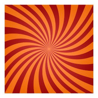 Red orange swirls art photo