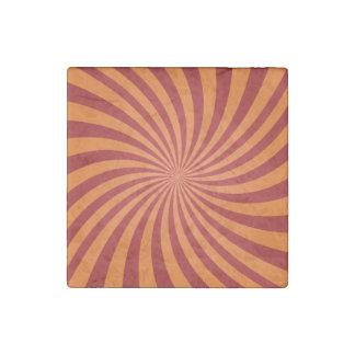 Red orange swirls stone magnet