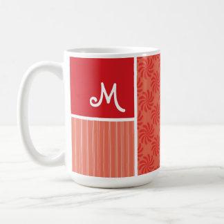 Red & Orange Swirls; Swirl Coffee Mugs
