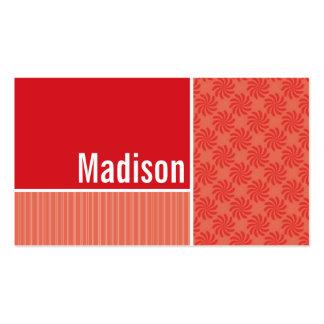 Red & Orange Swirls; Swirl Pack Of Standard Business Cards