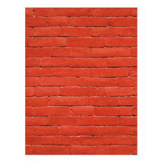 Red Orange Wall Postcard