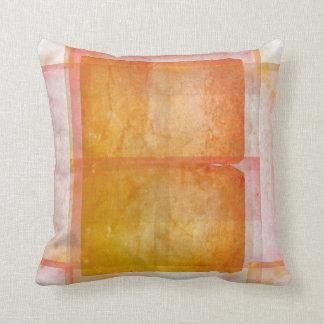 Red Orange Watercolor Silk Screen Print Pattern Cushion