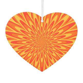 Red, Orange, Yellow Bursting Pattern Air Freshener