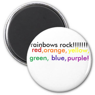red,orange,yellow,green,blue,indig... - Customized 6 Cm Round Magnet
