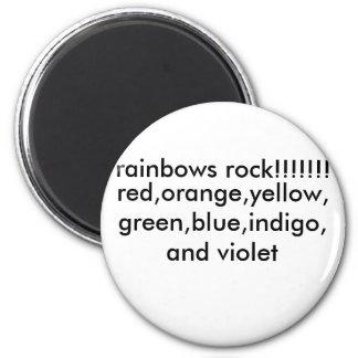 red,orange,yellow,green,blue,indigo,and violet,... 6 cm round magnet