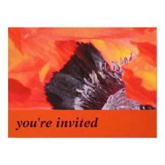 "Red Orange Yellow 6.5"" X 8.75"" Invitation Card"