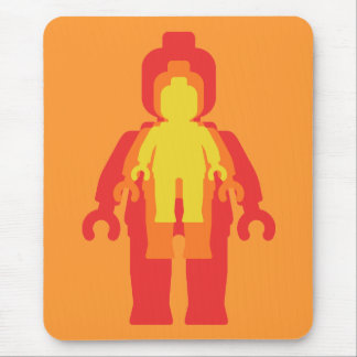 Red, Orange & Yellow Minifigs Mouse Pad