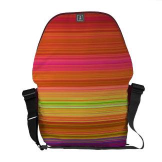 Red Orange Yellow stripes rickshaw bag Courier Bag