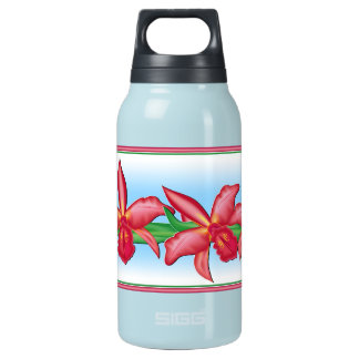 Red Orchid Insulated Water Bottle