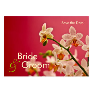 Red Orchid • Save the Date Mini Card Business Card Templates