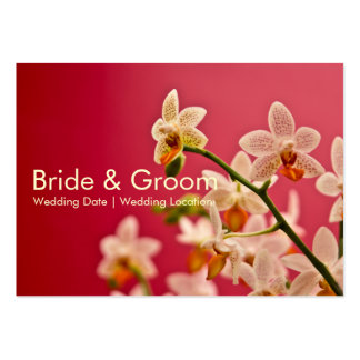 Red Orchid • Wedding Website Business Card