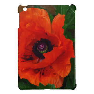 Red Oriental Poppy Case For The iPad Mini