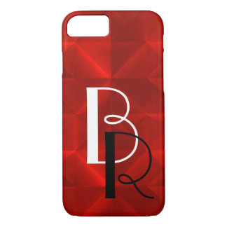 Red Origami with intials iPhone 7 Case