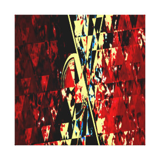 Red Orion Window Abstract Art Modern Design Canvas Print