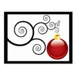 Red Ornament Christmas Postcard Greetings