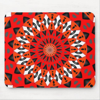 Red ornament mouse pad