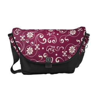Red ornamental Pattern Messenger Bags