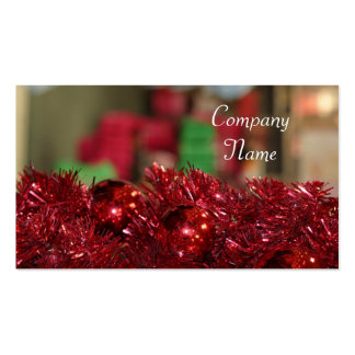 Red Ornaments Pack Of Standard Business Cards