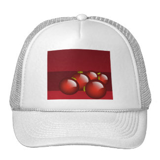 Red Ornaments Stationery Mesh Hat