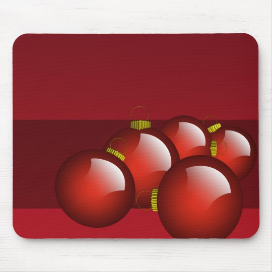 Red Ornaments Stationery Mouse Pad