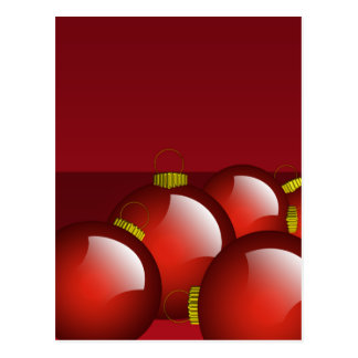 Red Ornaments Stationery Postcard