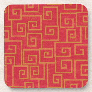 Red Ornate Coasters