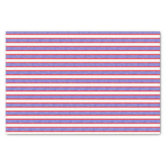Red Outlined Static Blue Stripes Tissue Paper